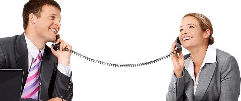 как картинка двух людей разговаривающих по телефону знаю видели